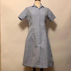 None Dresses - Vintage Blue Pinstripe Nurse/Volunteer Uniform